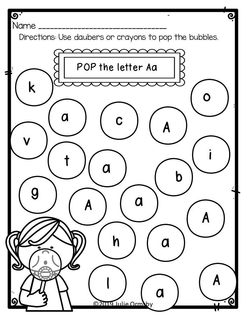 Character Worksheets for Kindergarten Worksheet toddlers Worksheets Free Printables Printable