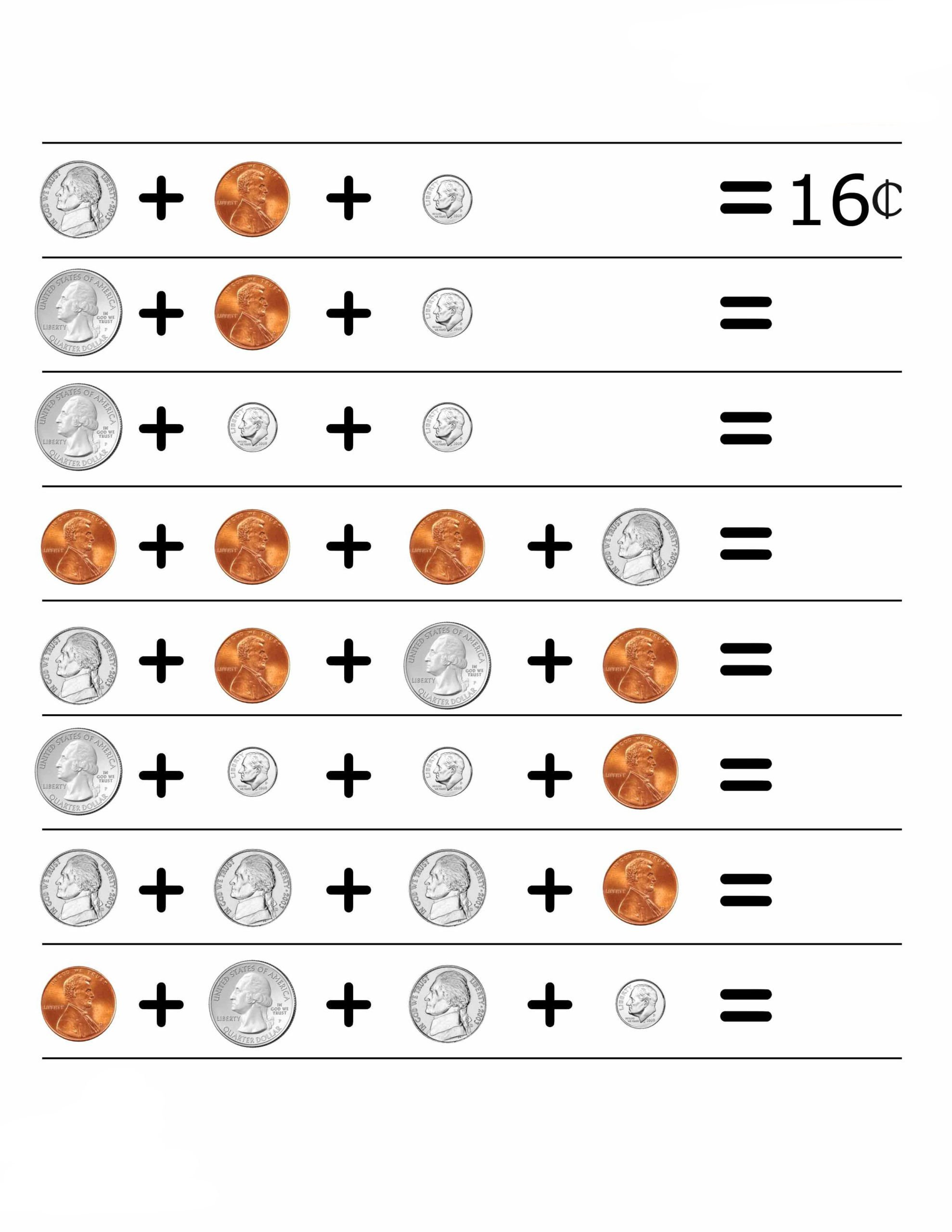 Coins Worksheets for Kindergarten 2nd Grade Money Worksheets Best Coloring for Kids Coin Coins