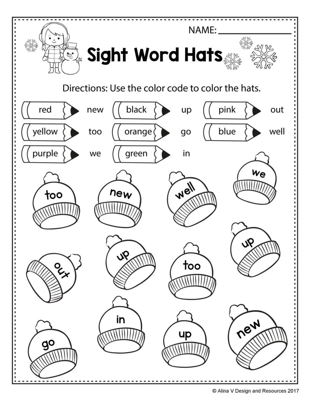 Color Word Worksheets Kindergarten Worksheet Coloring Pages Freeght Word Worksheets Excelent