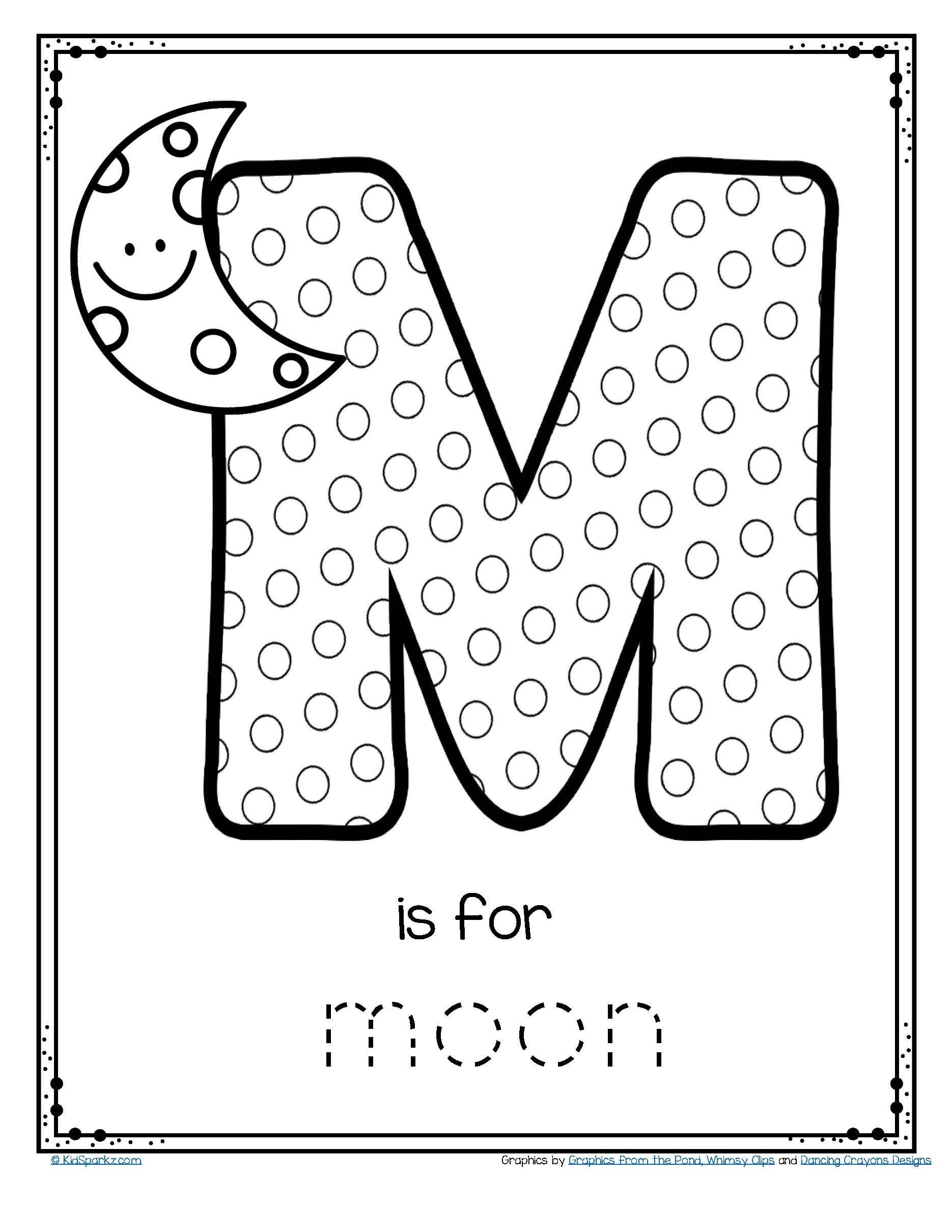 Computer Worksheet for Kindergarten Worksheets Free is for Moon Alphabet Letter Printable