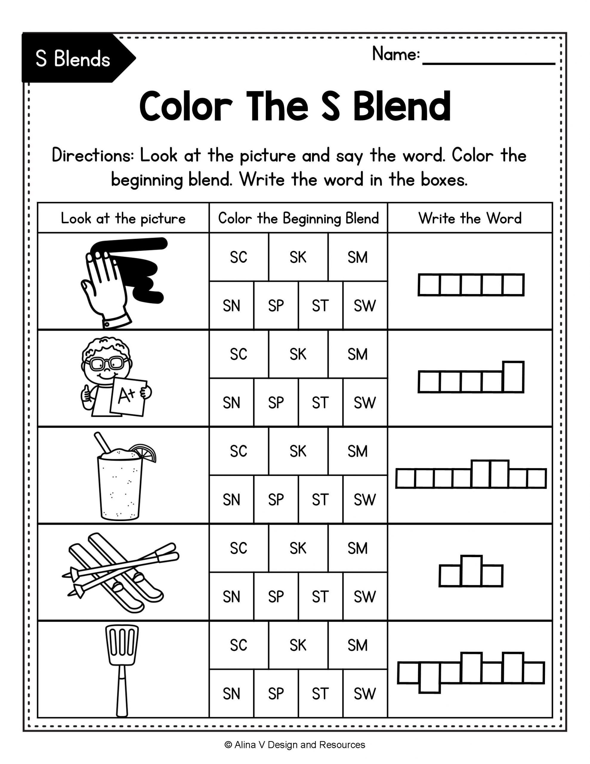 Consonant Blends Worksheets for Kindergarten Pin On Pk 3rd Resources