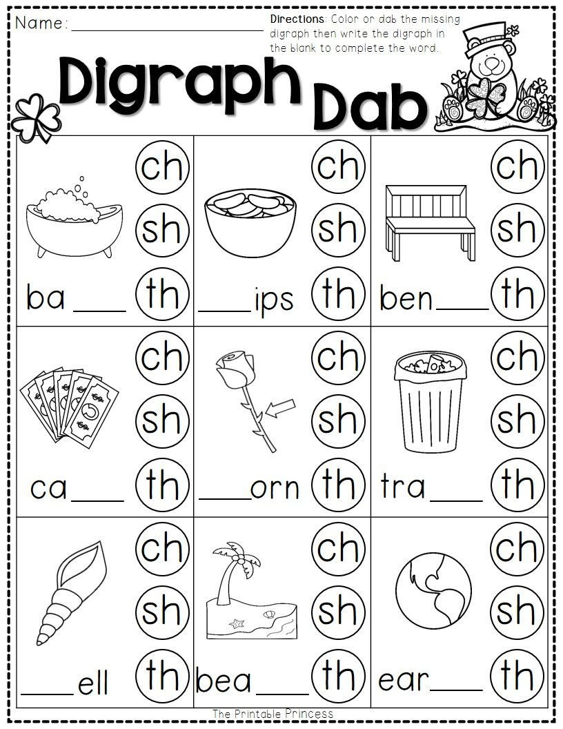 Consonant Blends Worksheets for Kindergarten St Patrick S Day Math and Literacy No Prep Freebie
