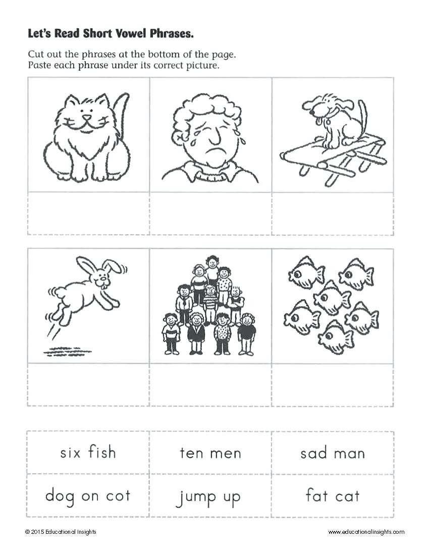 Cube Worksheets for Kindergarten Learning to Read Worksheets Kindergarten Reading Literacy