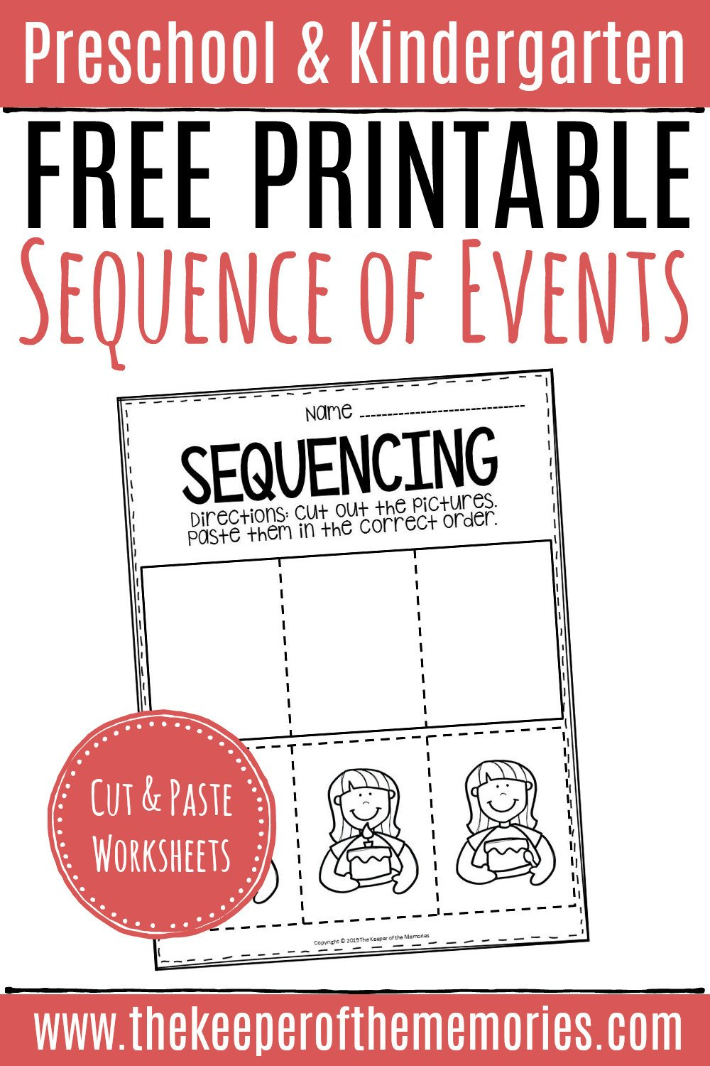 Cut and Paste Kindergarten Worksheets Free Printable Sequence Of events Worksheets