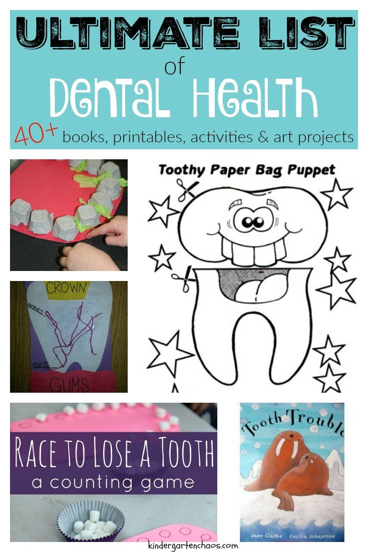 Ultimate List of Dental Health Books Activities Printables Art Projects kindergartenchaos