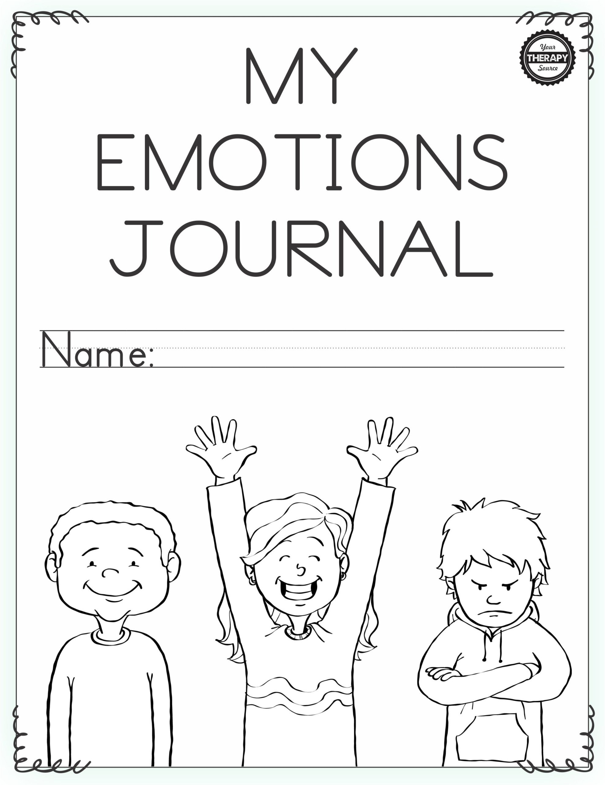 My Emotions Journal Girls Double Lines Cover scaled