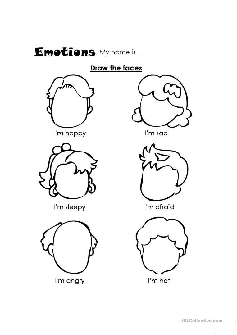 Feelings Worksheet for Kindergarten Feelings English Esl Worksheets for Distance Learning and