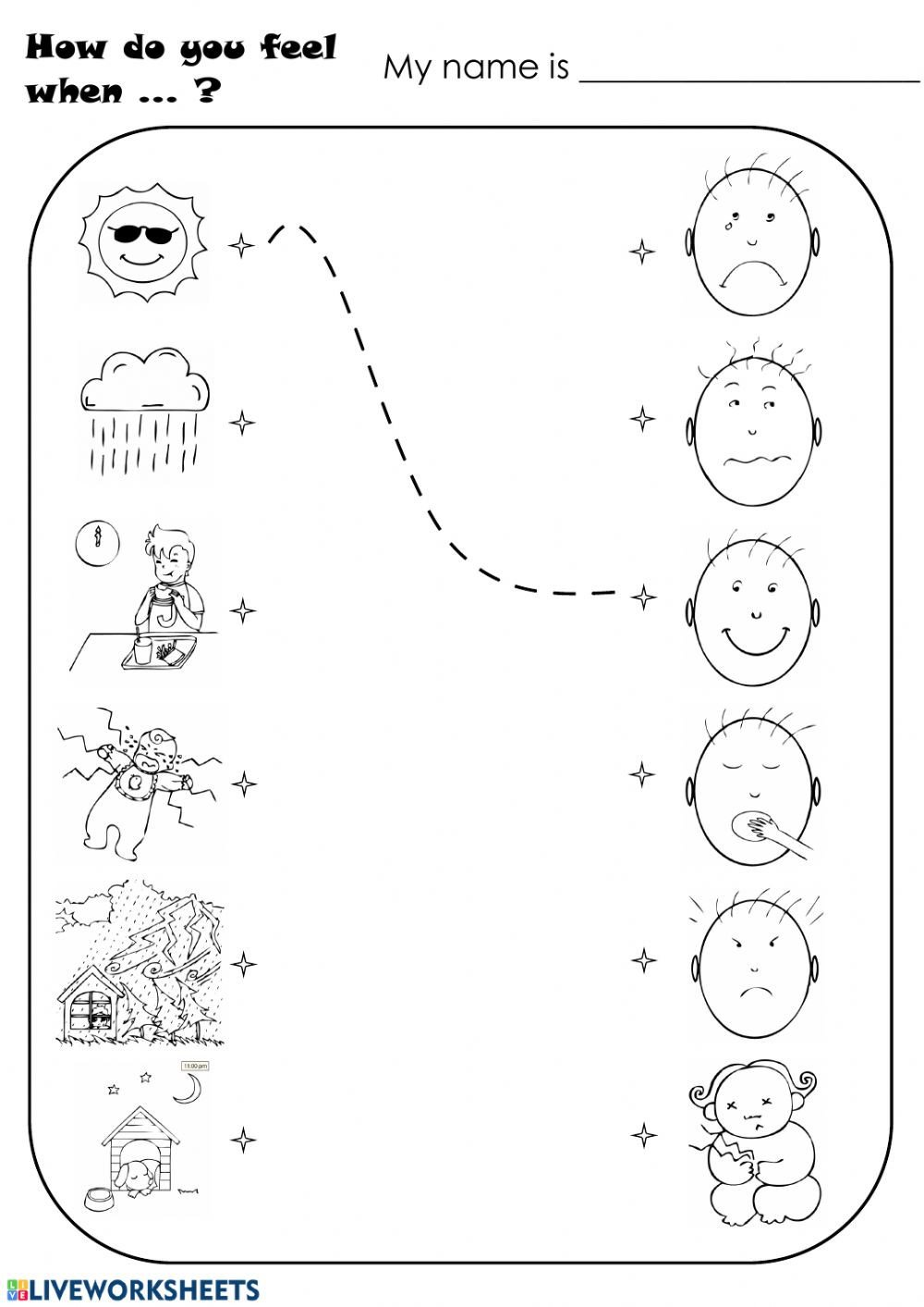 Feelings Worksheet for Kindergarten Feelings Feelings and Emotions Worksheet