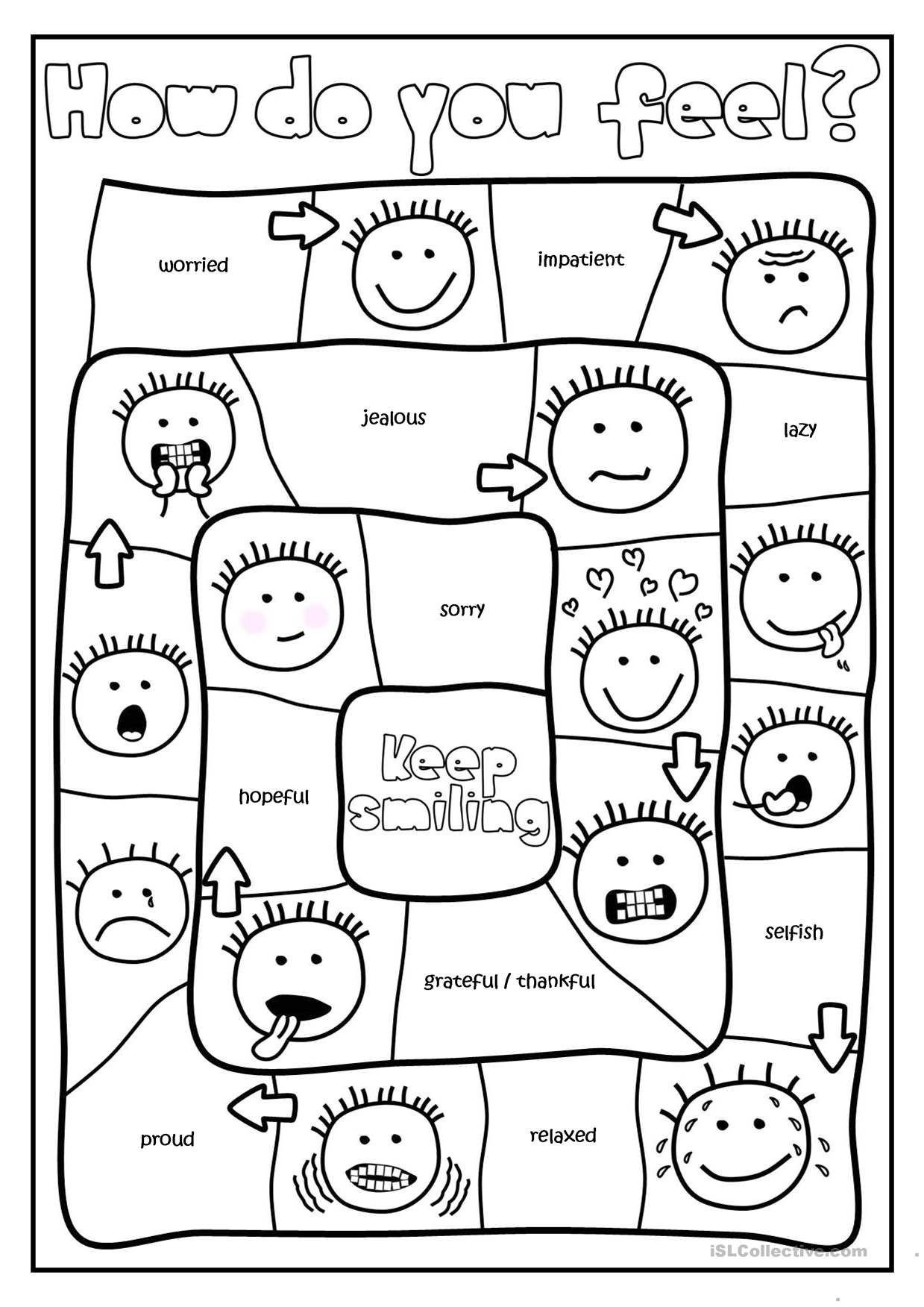 Feelings Worksheet for Kindergarten Free Printables and Activities On Feelings and Emotions