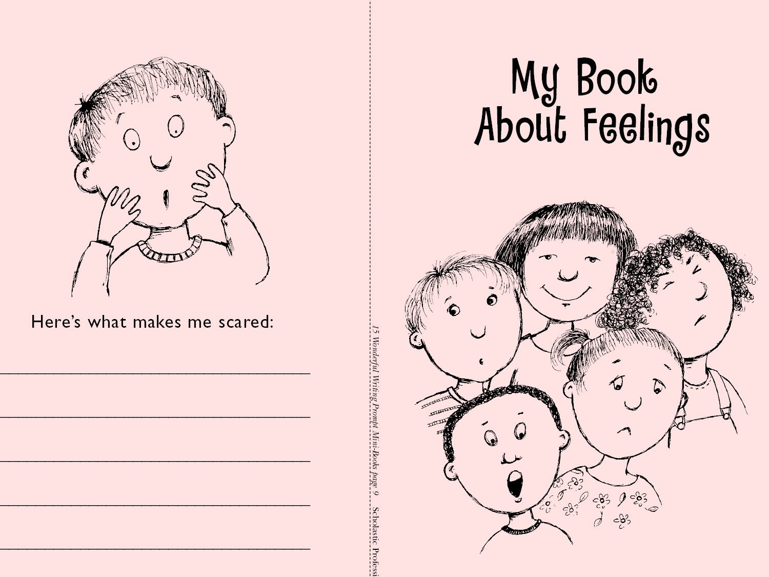 minibook feelings printable 4 3