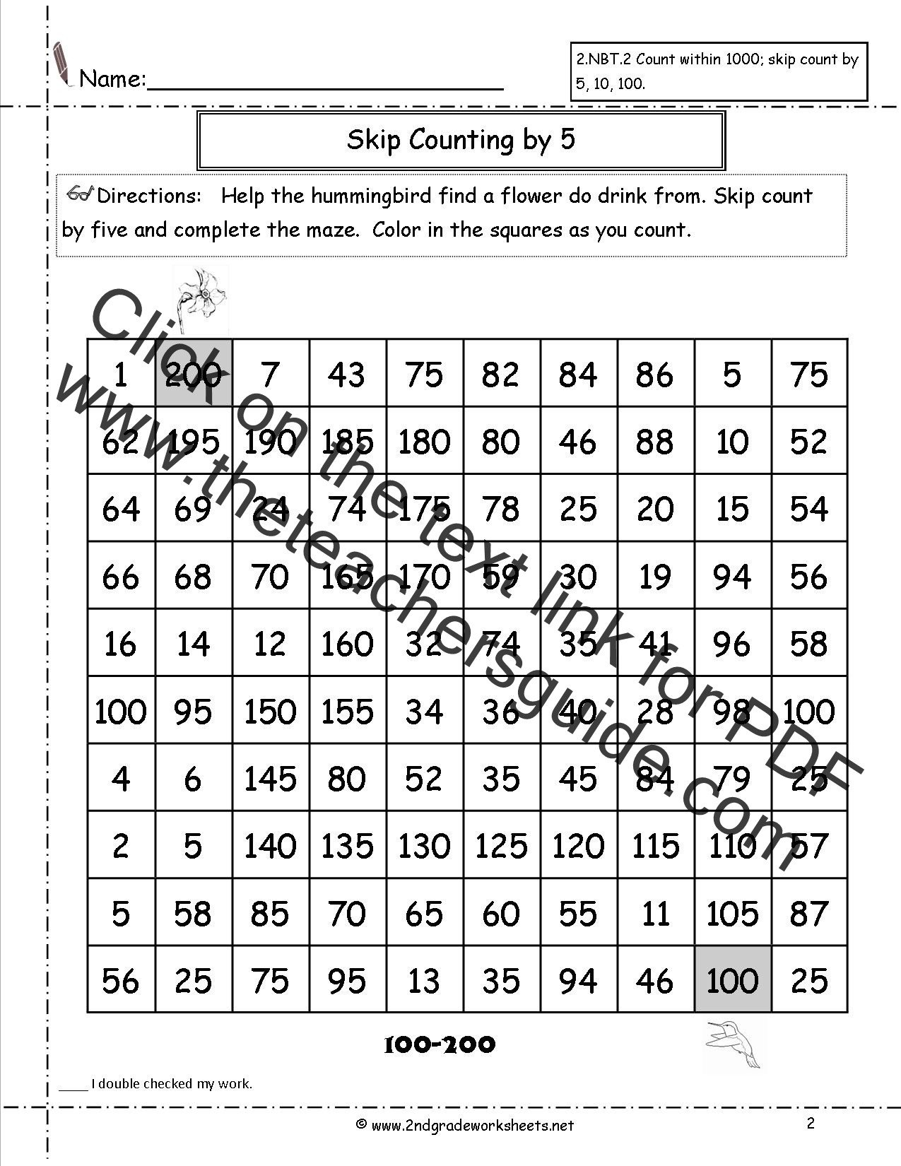 Free Counting Worksheets for Kindergarten Free Skip Counting Worksheets Math