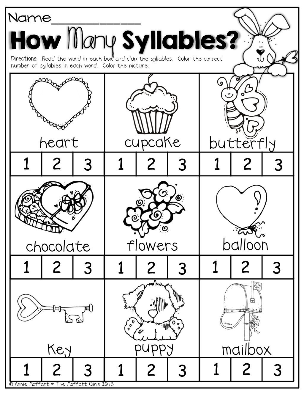 Free Syllable Worksheets for Kindergarten 20 Syllable Worksheet for Kindergarten