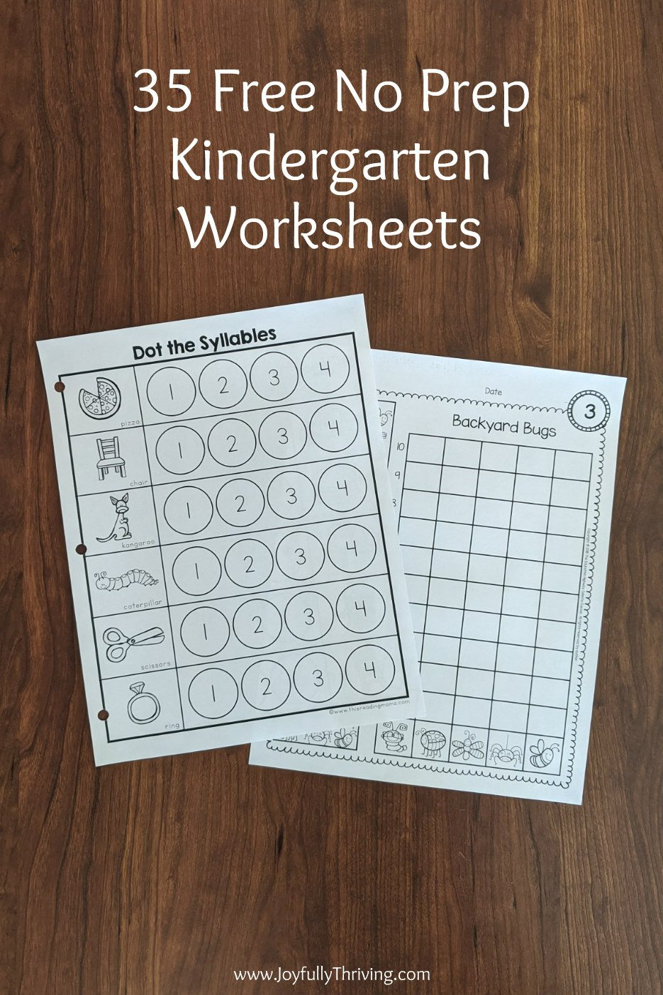 Free Syllable Worksheets for Kindergarten 35 No Prep Free Kindergarten Worksheets & Activities