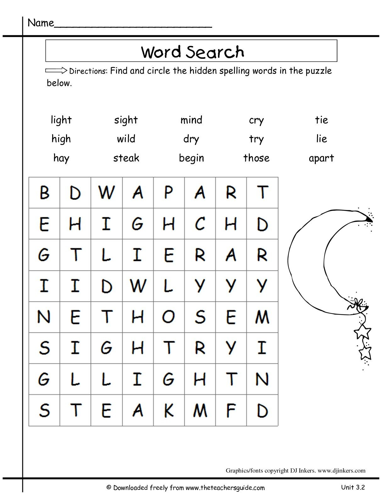 Free Syllable Worksheets for Kindergarten Math Worksheet Marvelous Word Worksheets for 1st Grade
