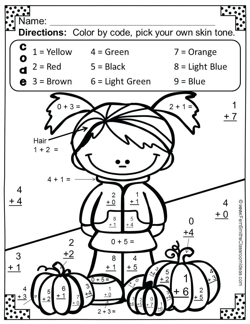 math worksheet halloween coloring pages fresh subtraction page outstanding freeion worksheets sheets color