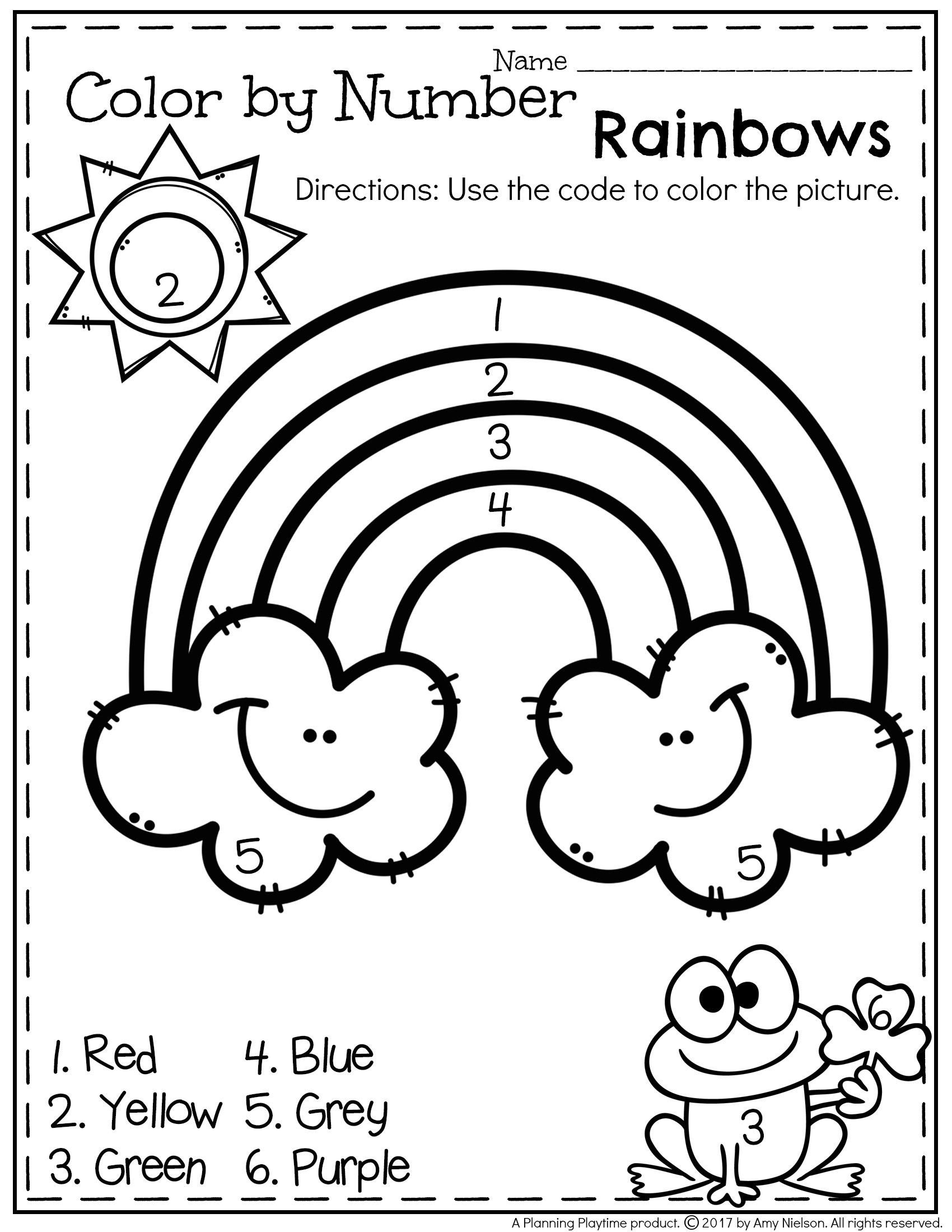 I Know My Colors Worksheet March Preschool Worksheets Planning Playtime
