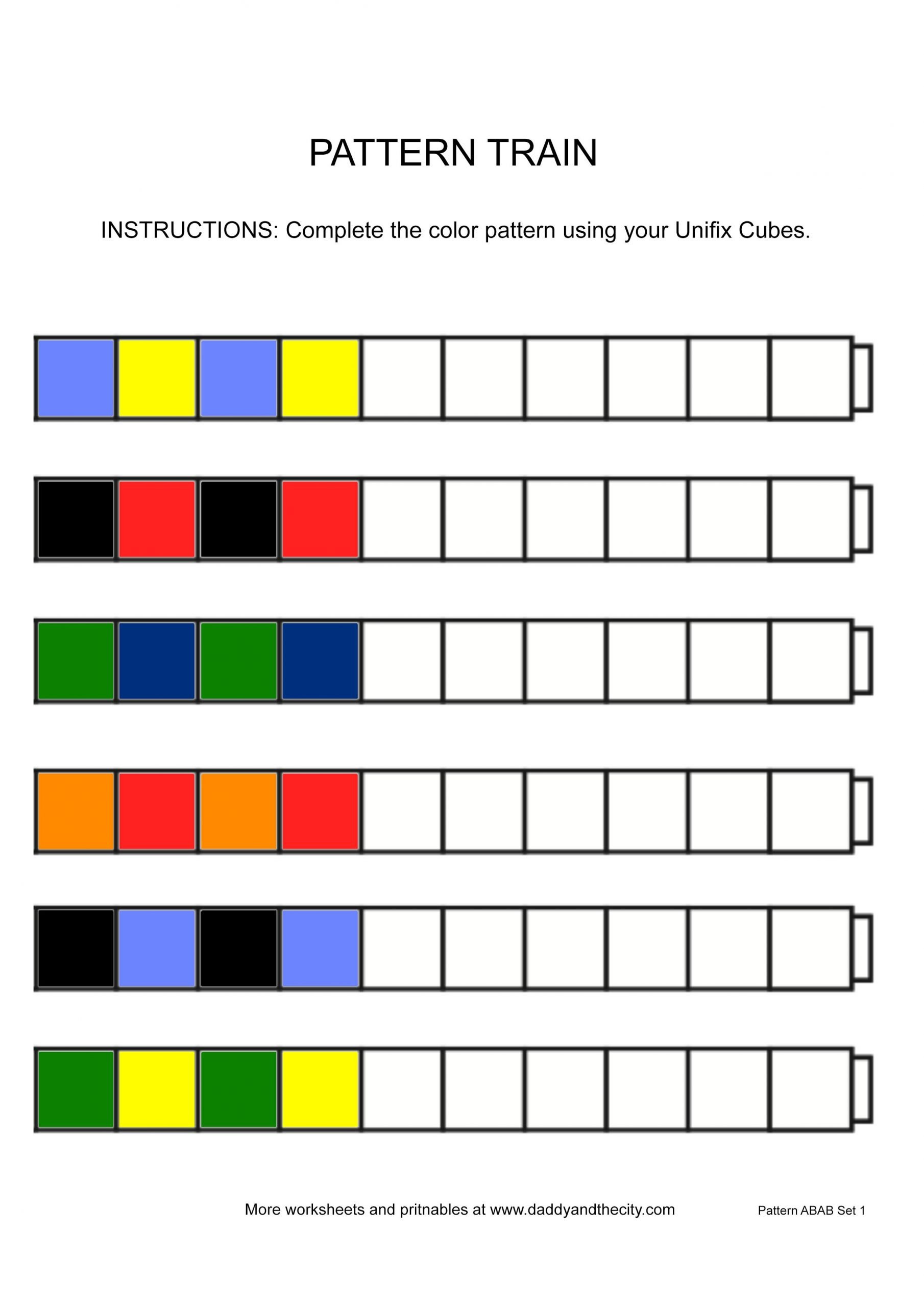 Kindergarten Ab Pattern Worksheets Easy Ab Pattern Worksheet