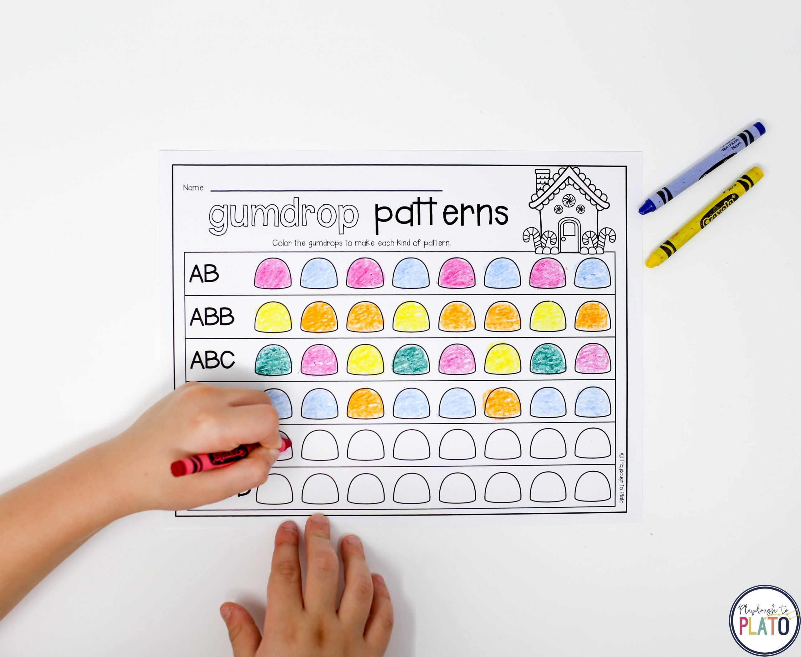 Free gumdrop pattern sheet for kids 6969