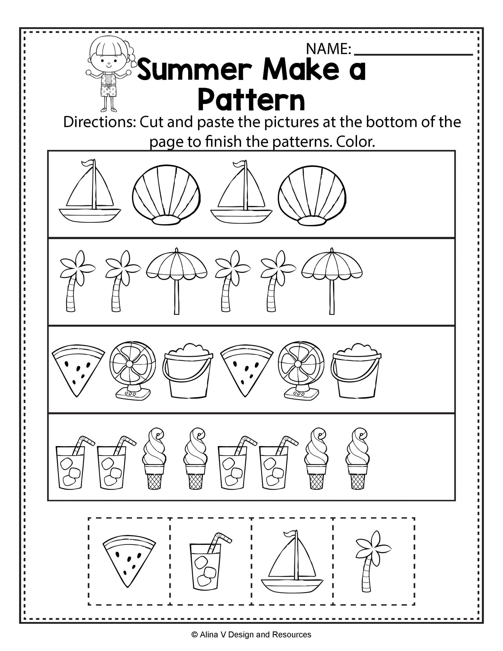 Kindergarten Ab Pattern Worksheets Math Worksheets for Kindergarten Patterns