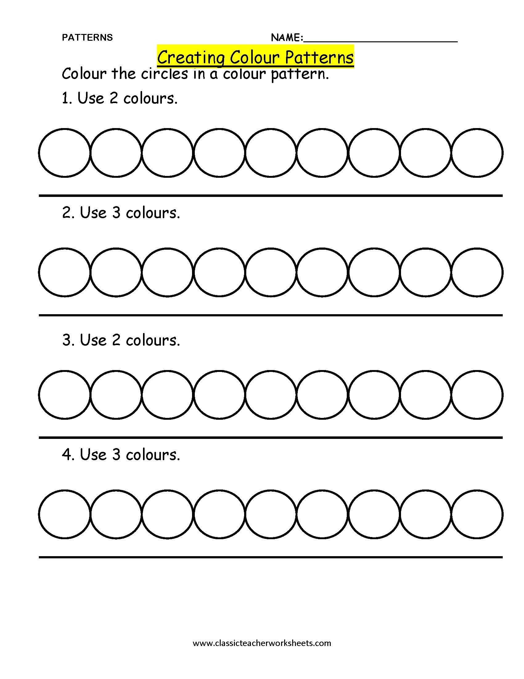 Kindergarten Ab Pattern Worksheets Worksheets Phenomenal Patternts Image Inspirationst