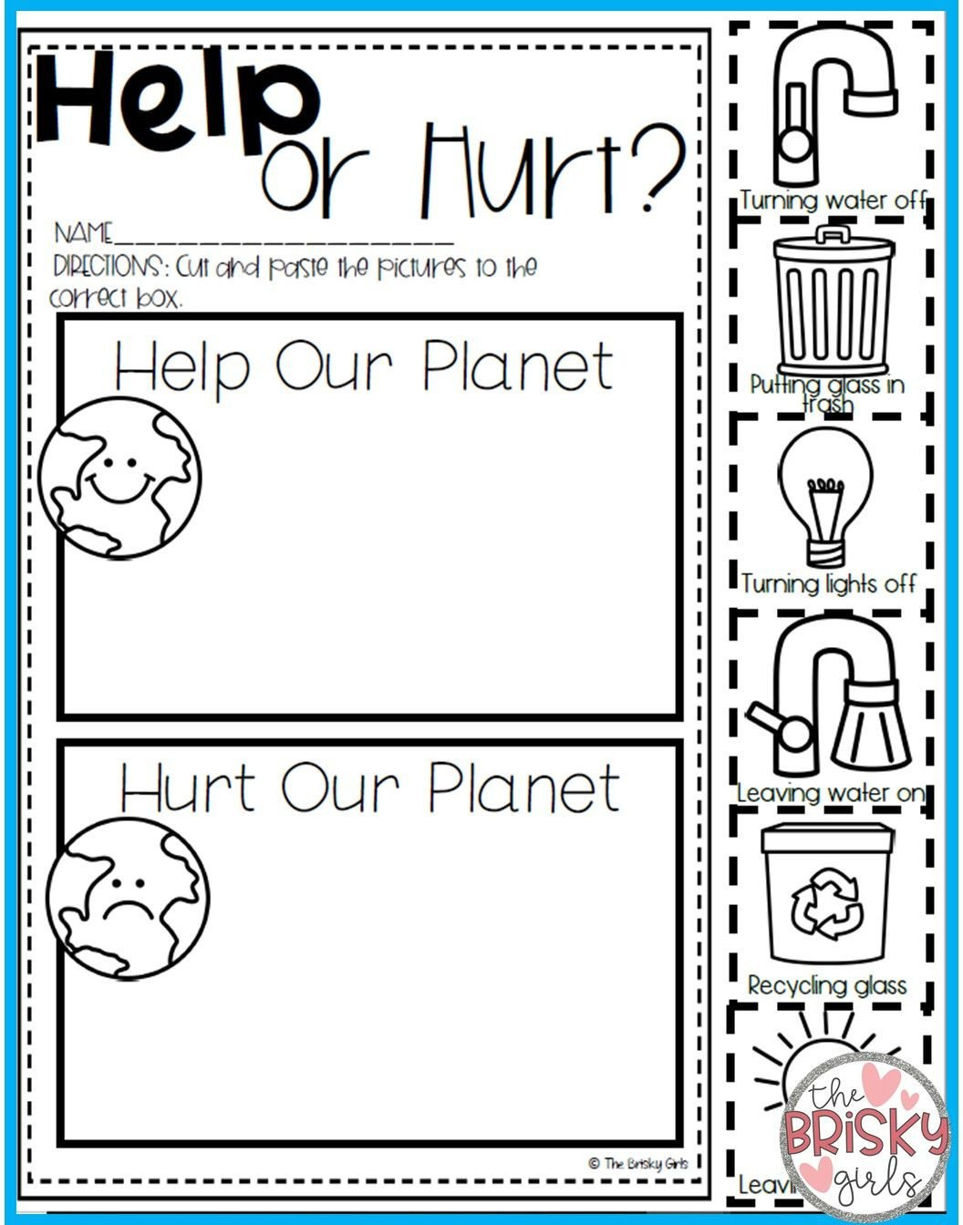 Kindergarten Earth Day Worksheets Earth Day Activities Earth Day Activities for Kids Earth