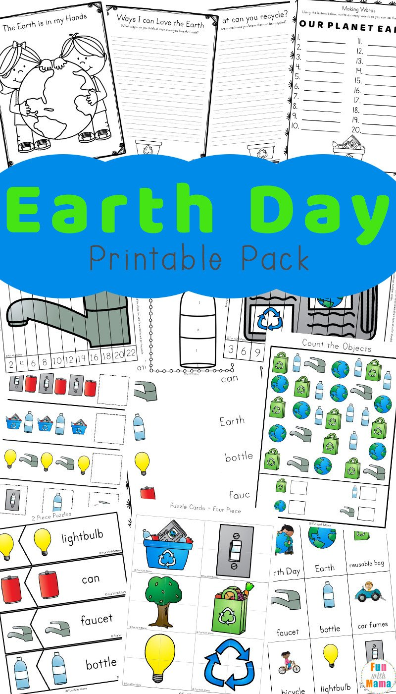 Kindergarten Earth Day Worksheets Earth Day Activities for Kids Including Printables and