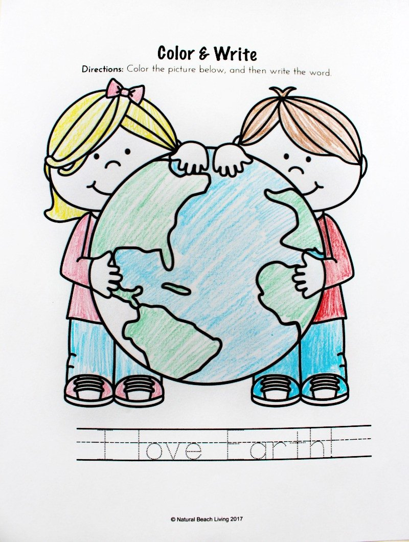 Kindergarten Earth Day Worksheets Earth Day Activities for Preschool & Kindergarten Free
