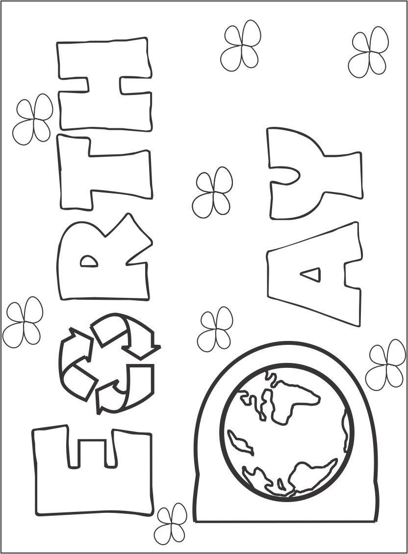 Kindergarten Earth Day Worksheets Earth Day Printable Coloring Page for Kids Pages