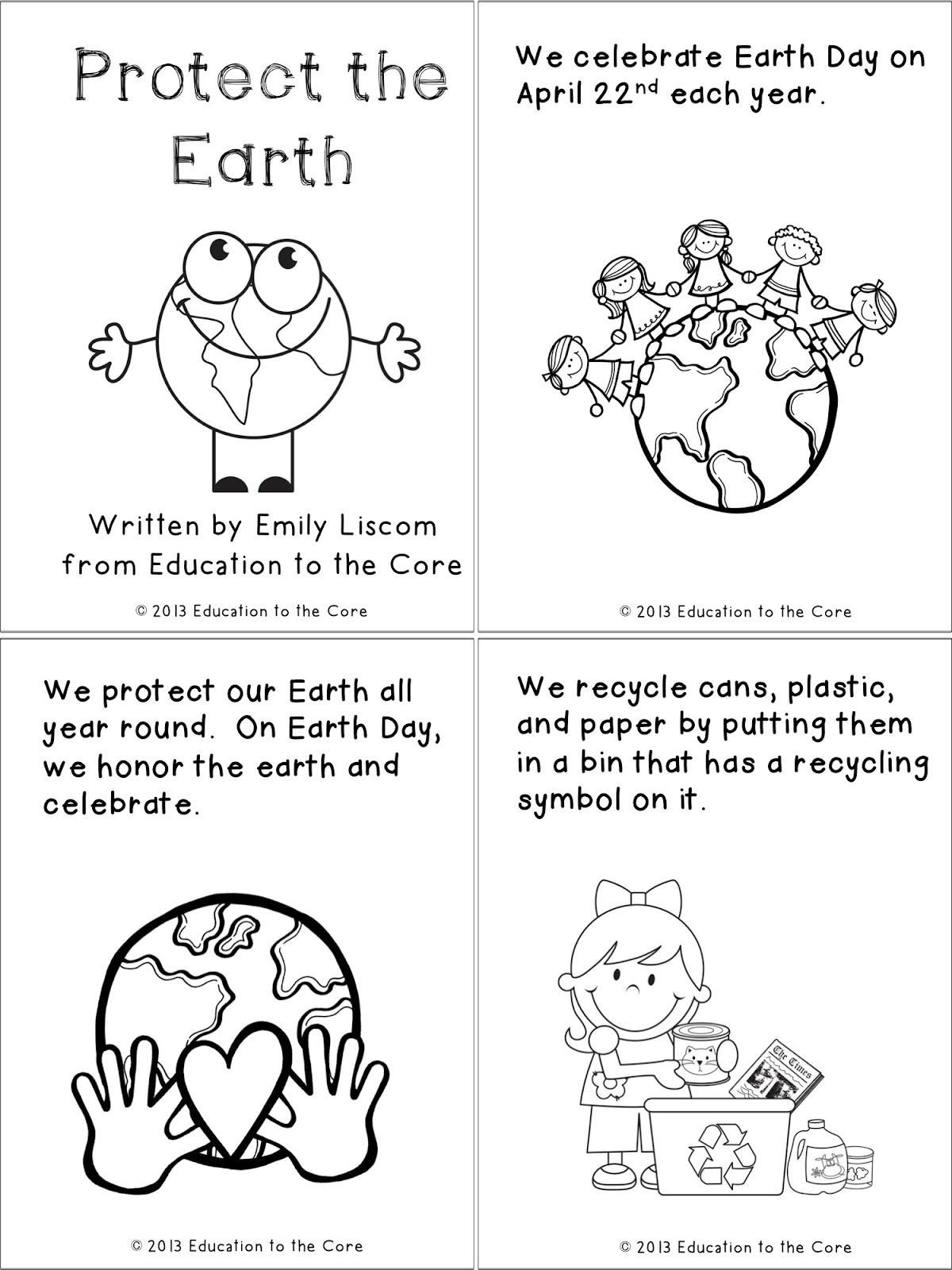 Kindergarten Earth Day Worksheets Spring Printables and A Special Freebie