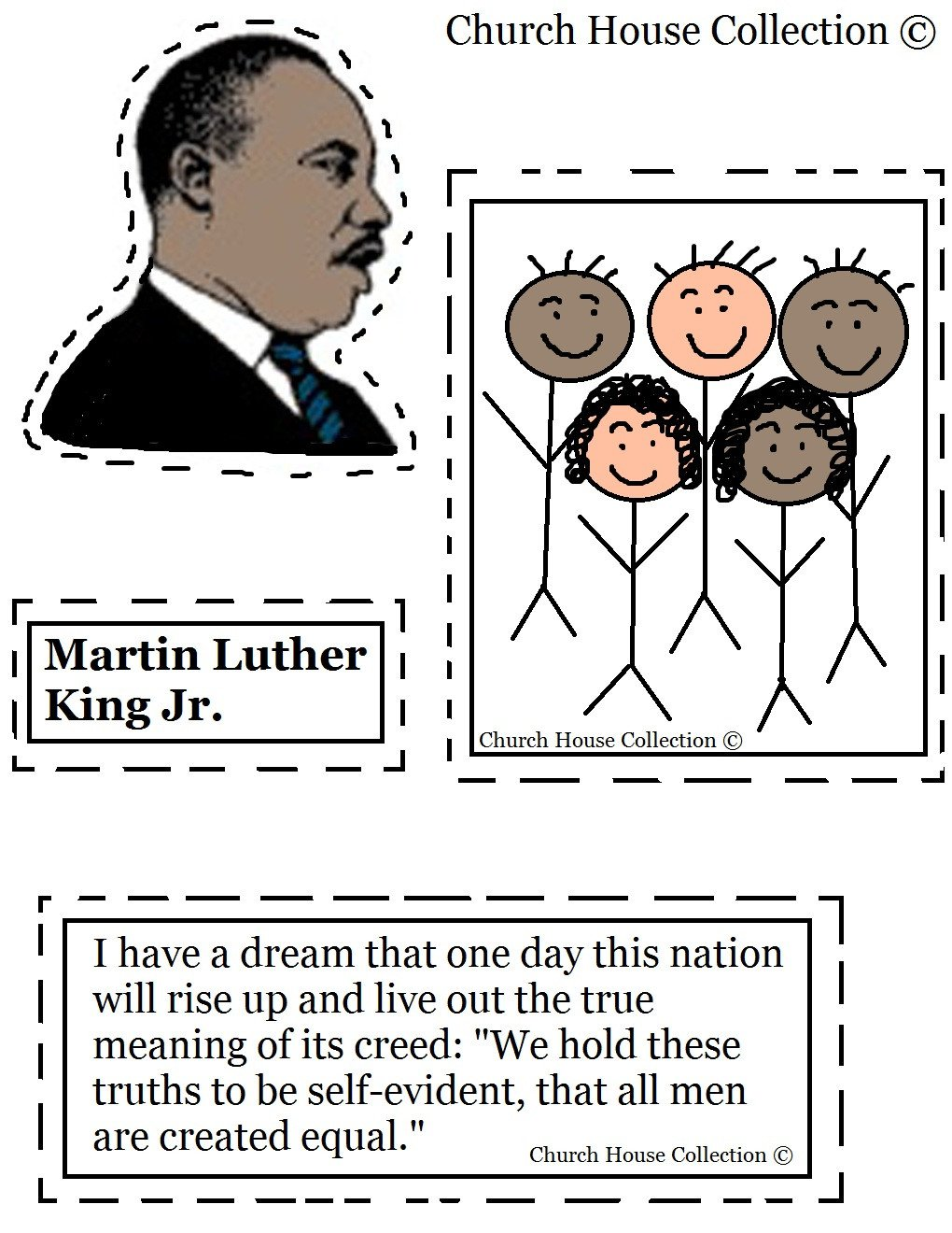 Kindergarten Martin Luther King Worksheets Church House Collection Blog Martin Luther King Jr Craft