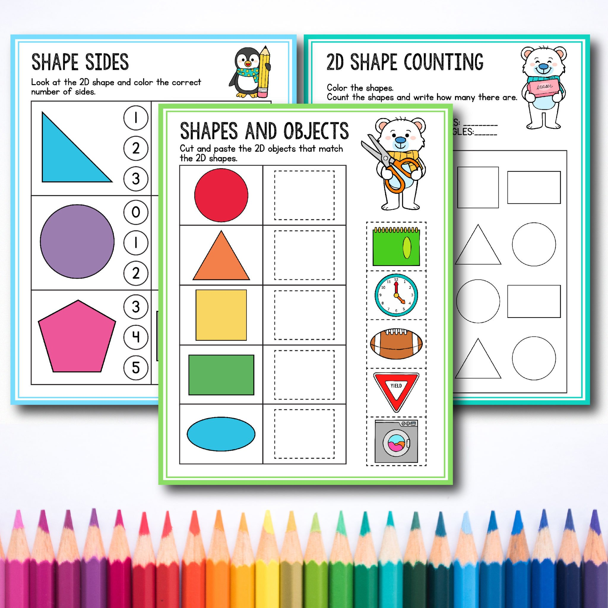 Kindergarten Shapes Worksheets Free Free Preschool & Kindergarten Shapes Worksheets for toddlers
