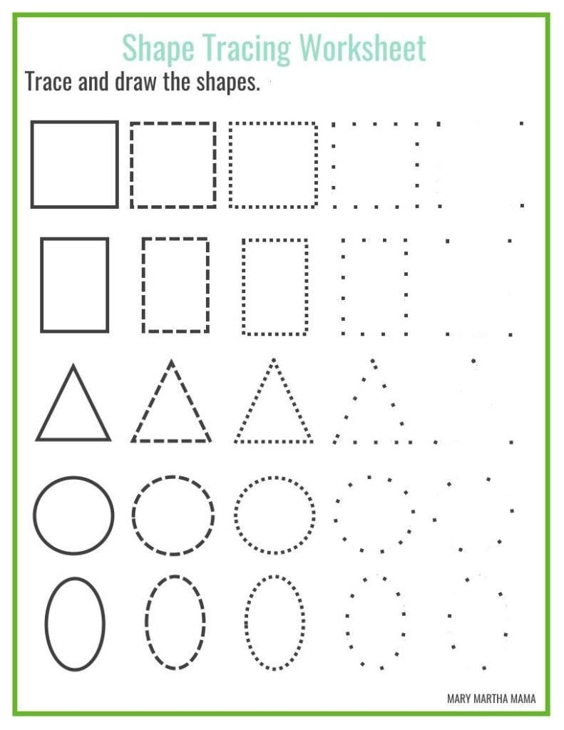 Kindergarten Shapes Worksheets Free Free Shape Drawing Printables