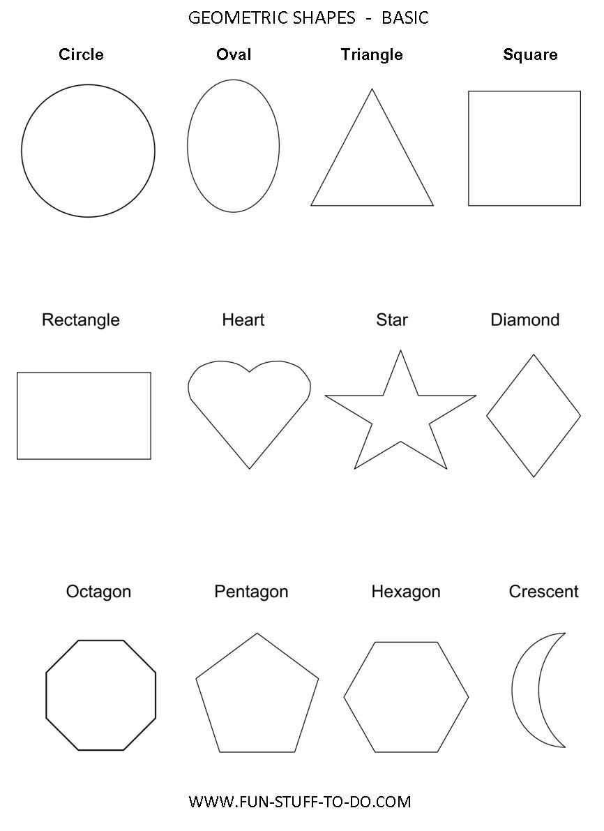 Kindergarten Shapes Worksheets Free Geometric Shapes Worksheets Free to Print