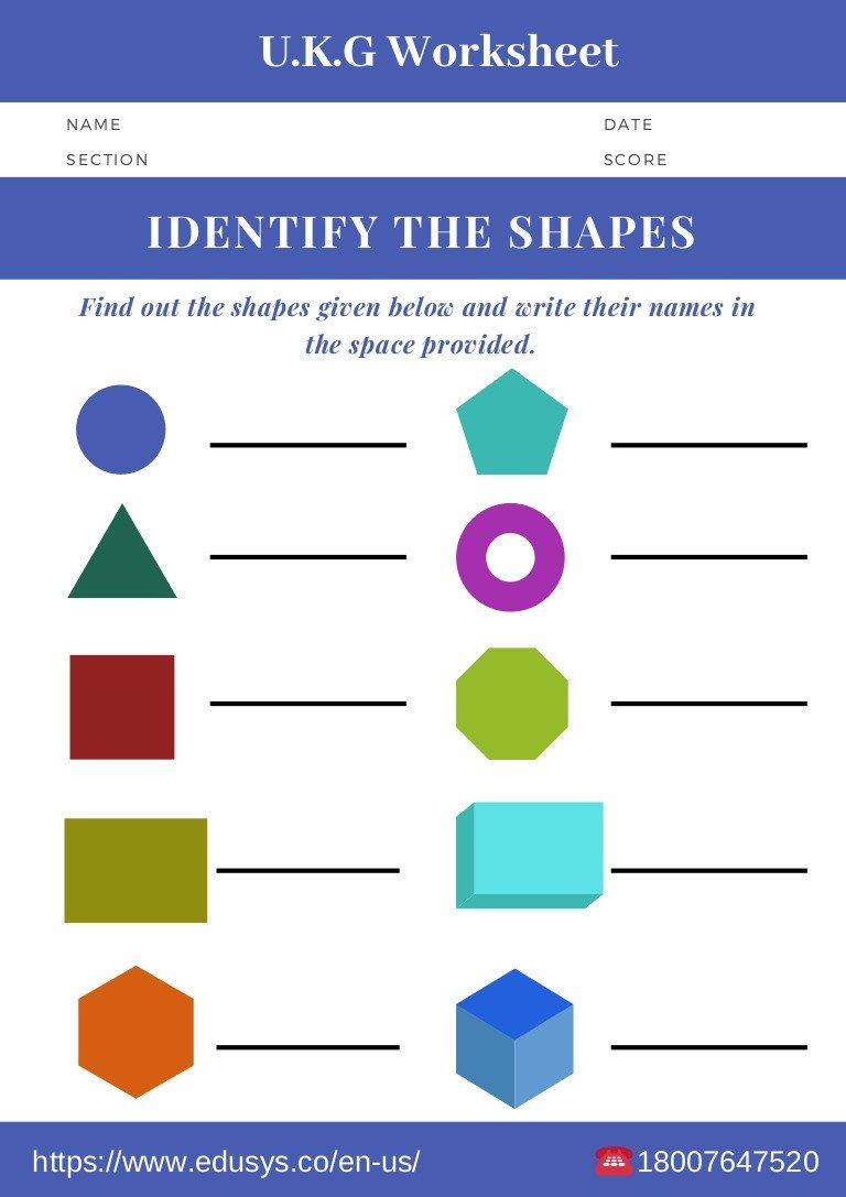 Kindergarten Shapes Worksheets Free Kindergarten Math Worksheet Free Pdf Printable