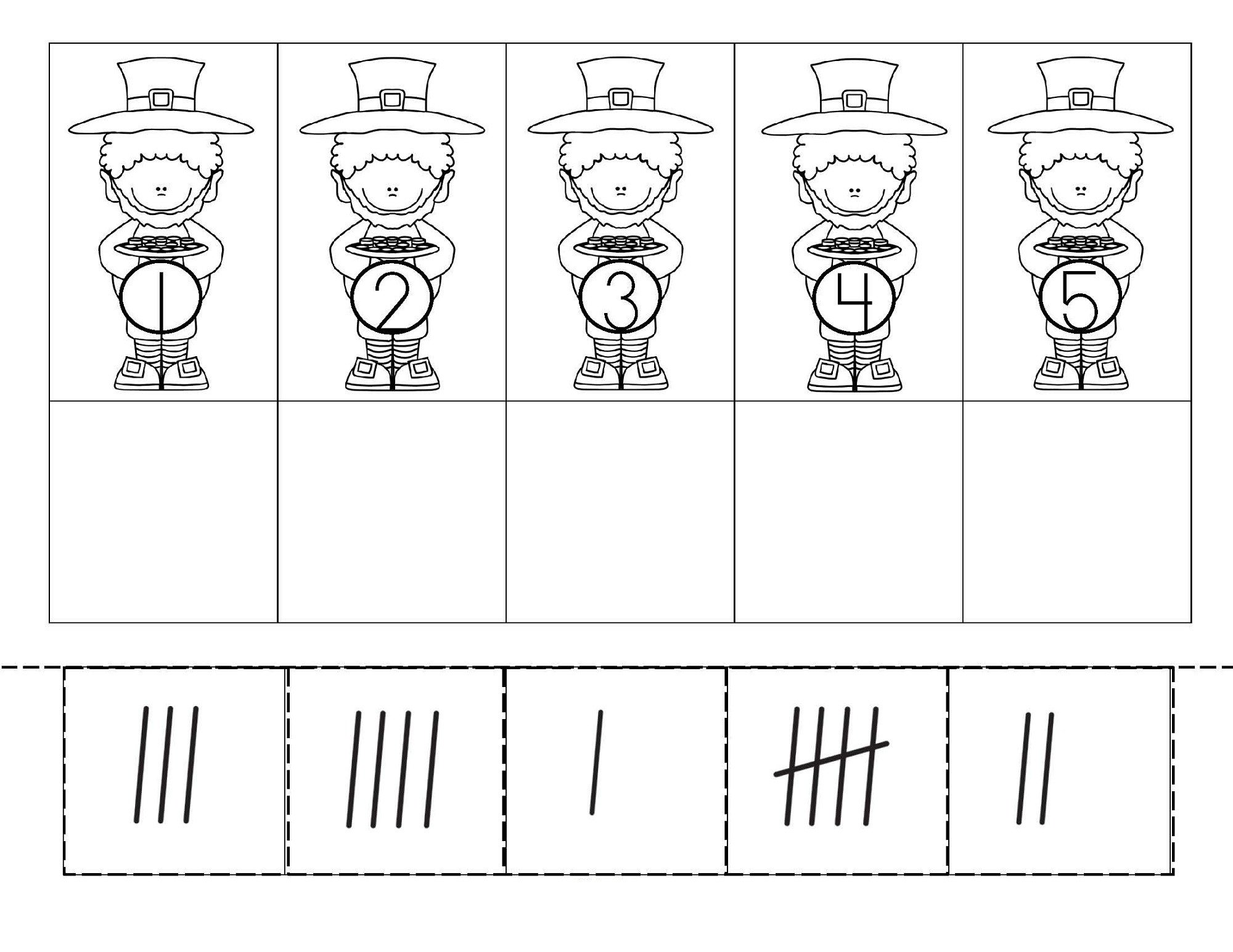 Kindergarten Tally Marks Worksheet Tally Mark Worksheets Printable