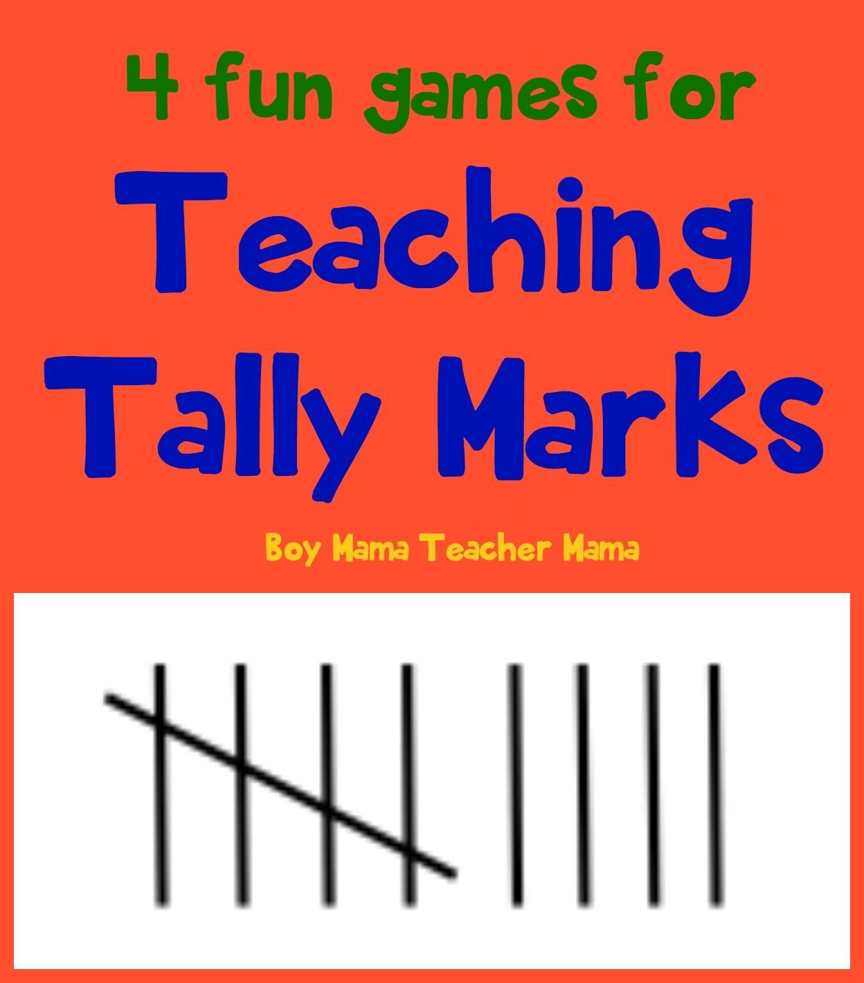 Kindergarten Tally Marks Worksheet Teacher Mama 4 Fun Games for Teaching Tally Marks after