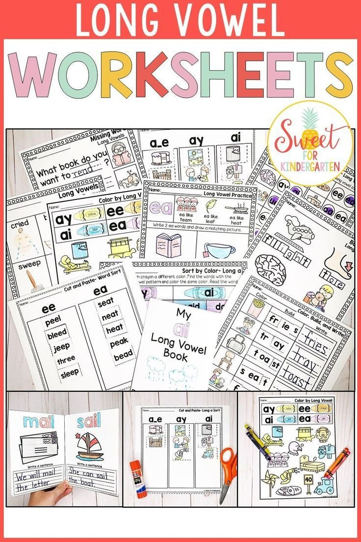 Long Vowels Worksheets Kindergarten Long Vowel Worksheets Distance Learning