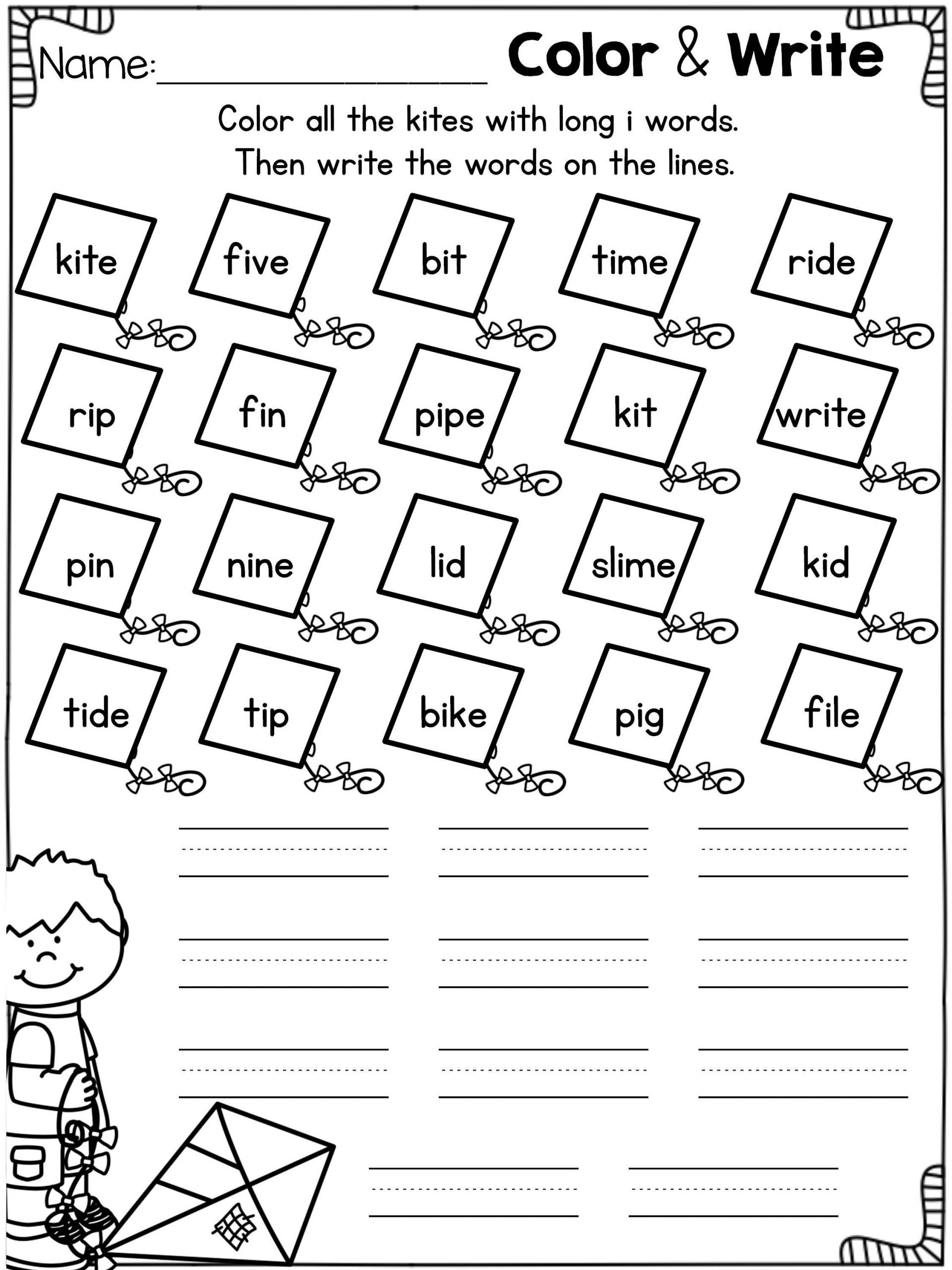 Long Vowels Worksheets Kindergarten Long Vowels Bundle
