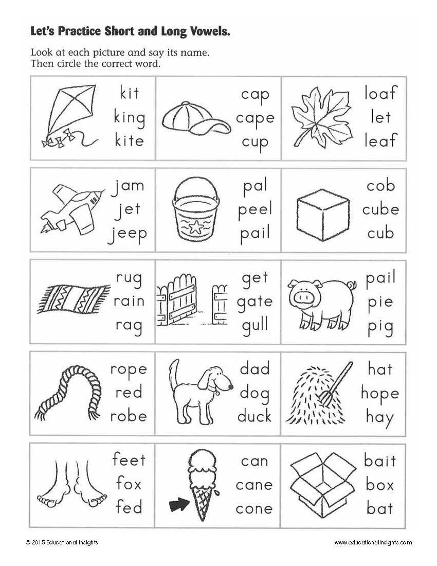 Long Vowels Worksheets Kindergarten Simple Summer Activities to Help Prepare Kids for