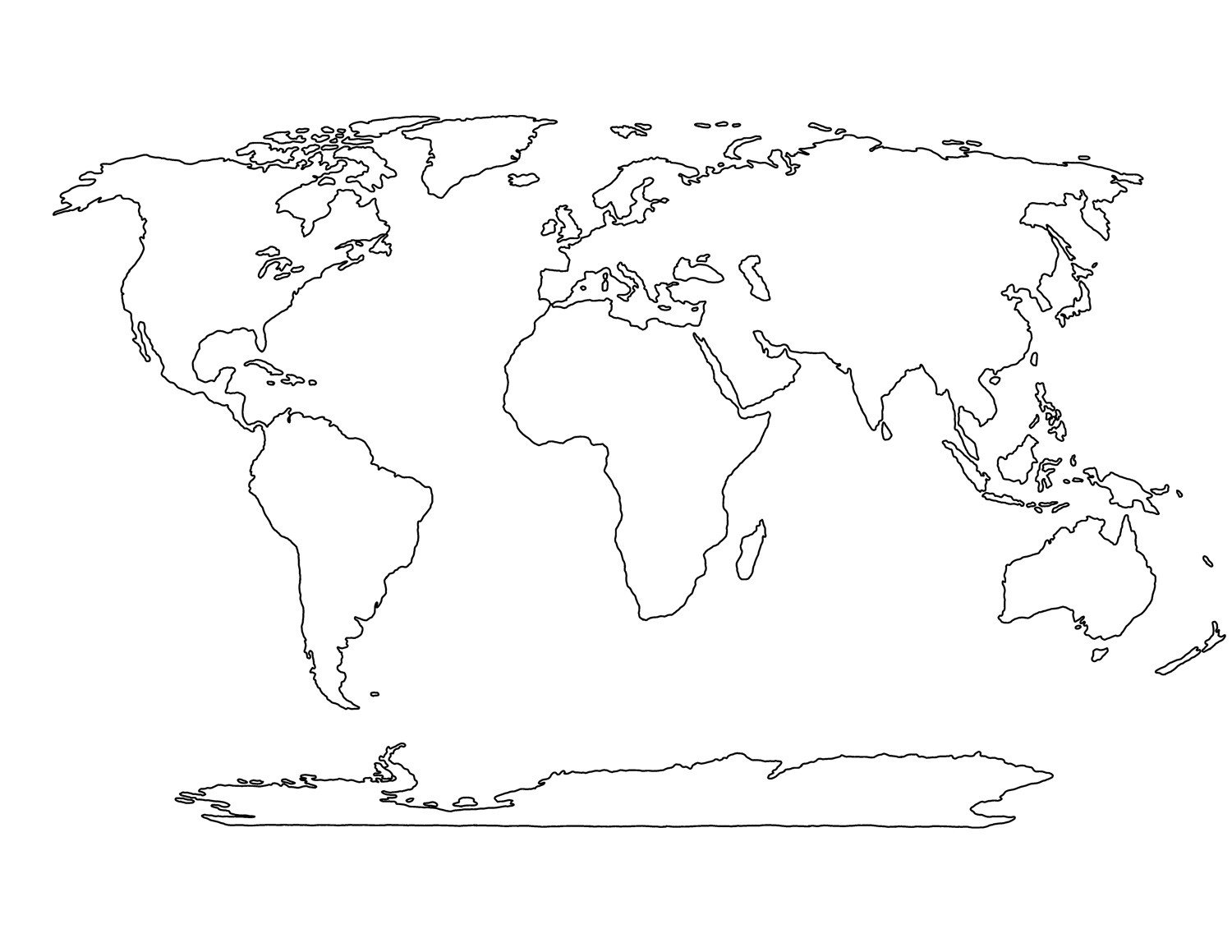 Map Worksheet for Kindergarten Printable Blank World Map Template for Students and Kids