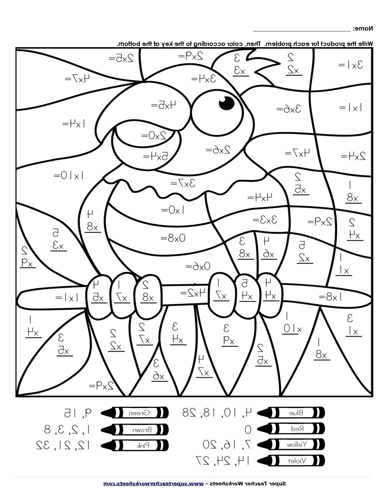 free multiplication coloring sheets tag 25 free multiplication