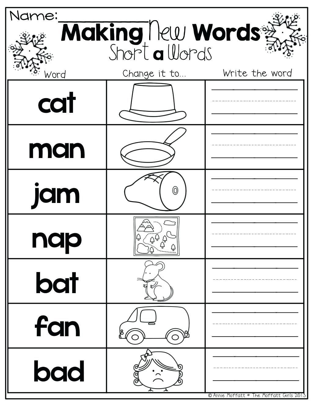Middle sound Worksheets for Kindergarten Beginning Middle End Worksheets Kindergarten and Ending
