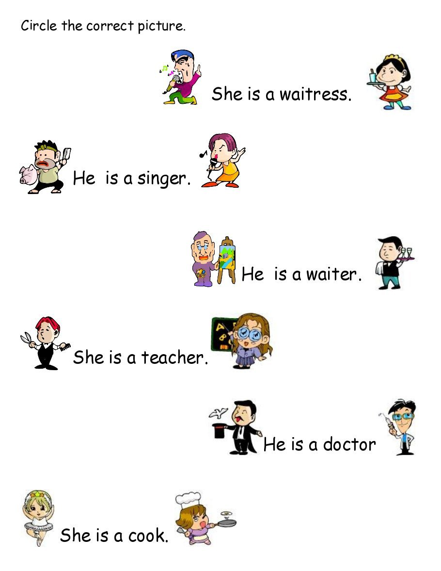 Occupation Worksheets for Kindergarten Kindergarten Worksheet Professions Free Kindergarden
