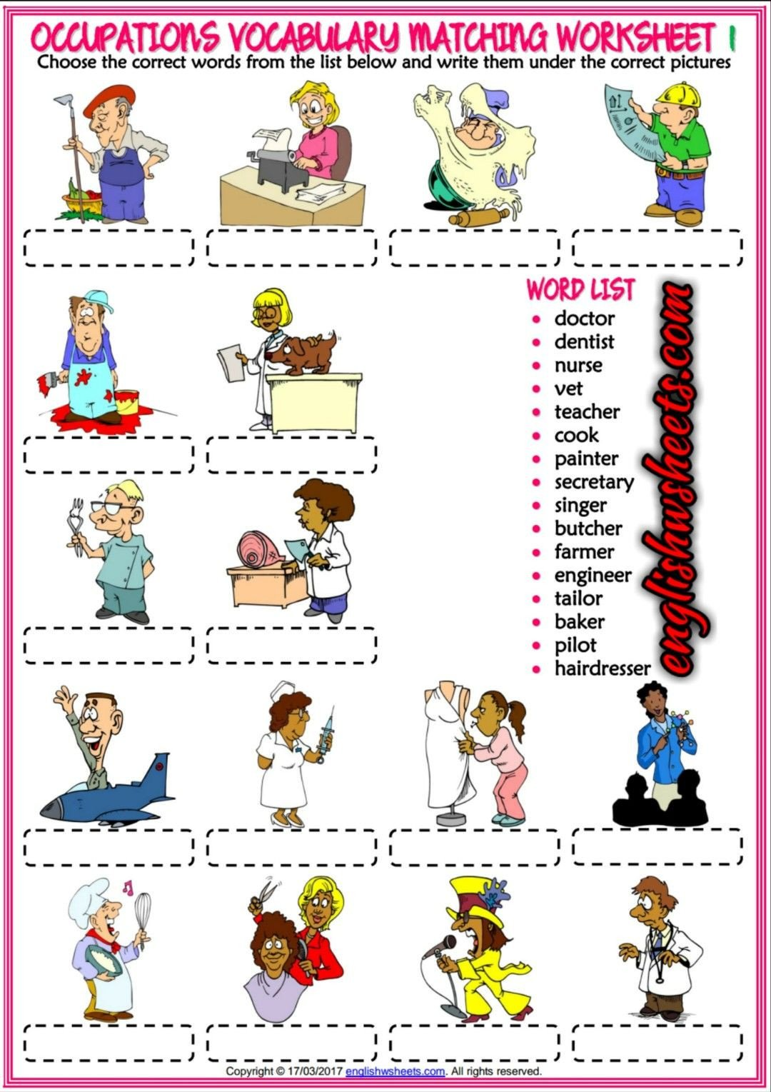 Occupation Worksheets for Kindergarten Pin by Ayşe On Eğitim