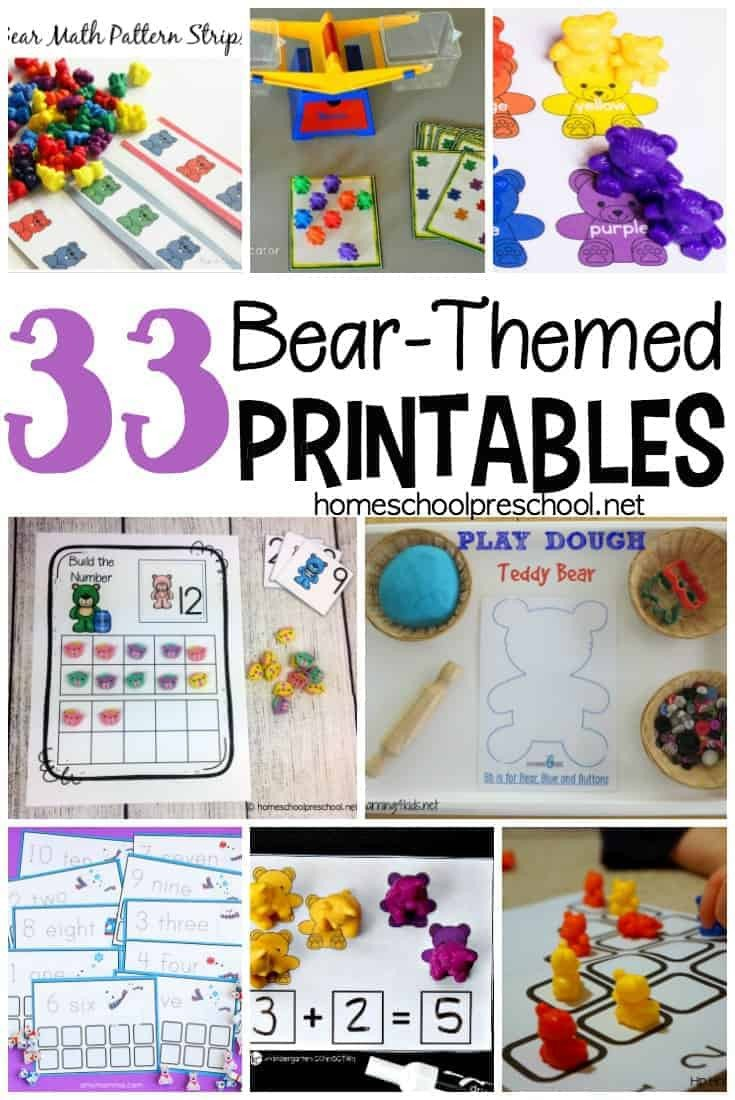 Polar Bear Worksheets Kindergarten 33 Free Preschool and Kindergarten Bear Printables