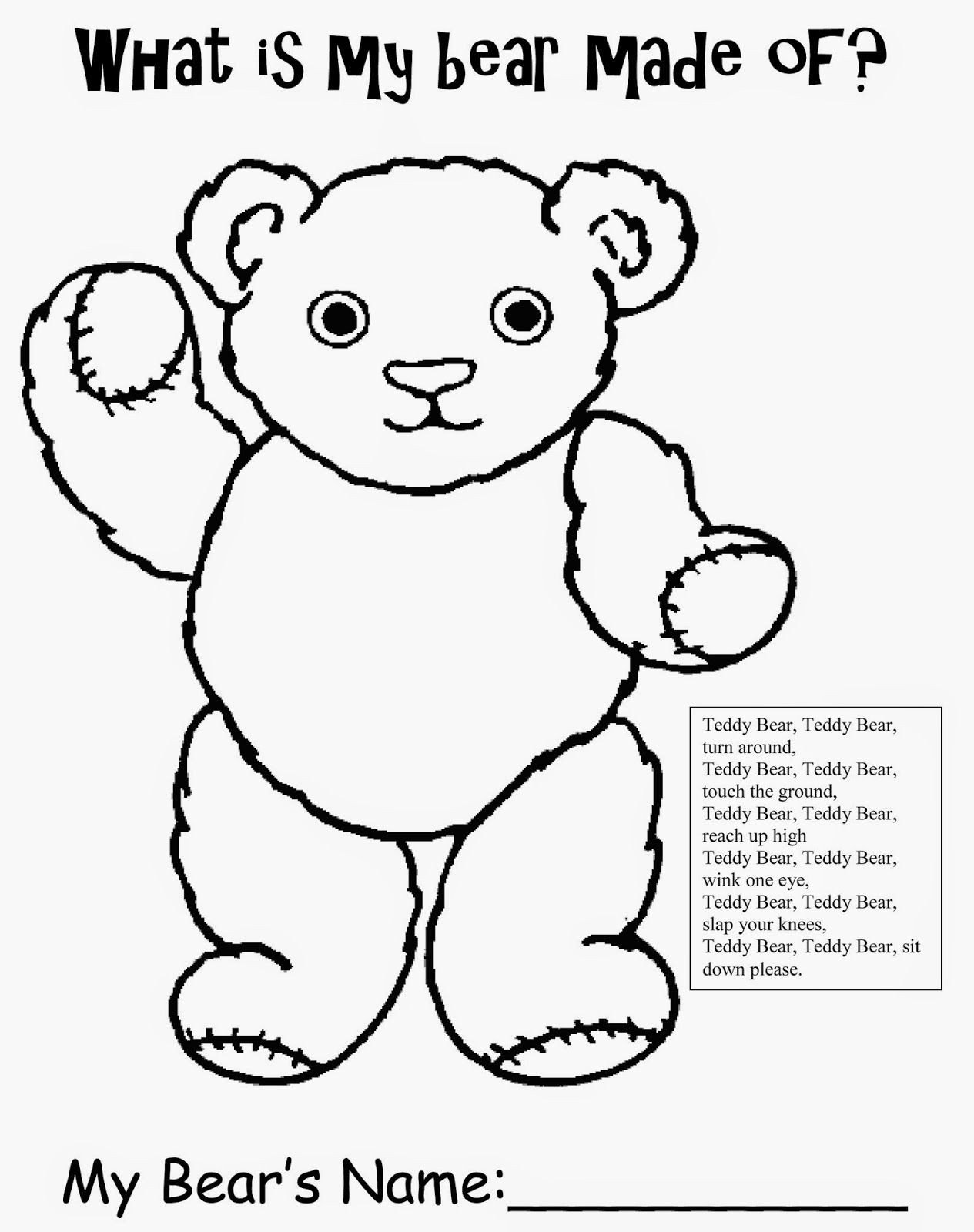 Polar Bear Worksheets Kindergarten Bear Printable Homework Sheets for Preschool Teddy Bear Free