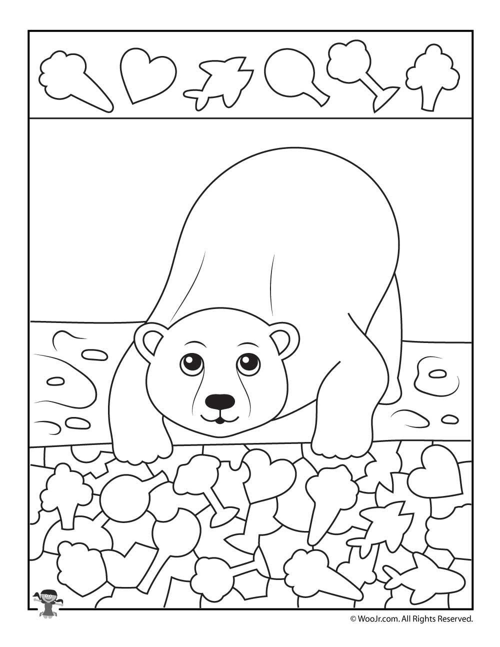 Polar Bear Worksheets Kindergarten Polar Bear I Spy Printable Worksheet