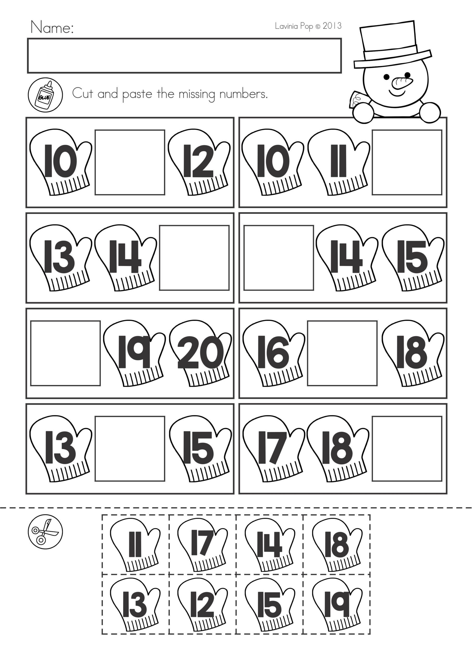 Prep for Kindergarten Worksheets Winter Math Worksheets Activities No Prep Cut and Paste