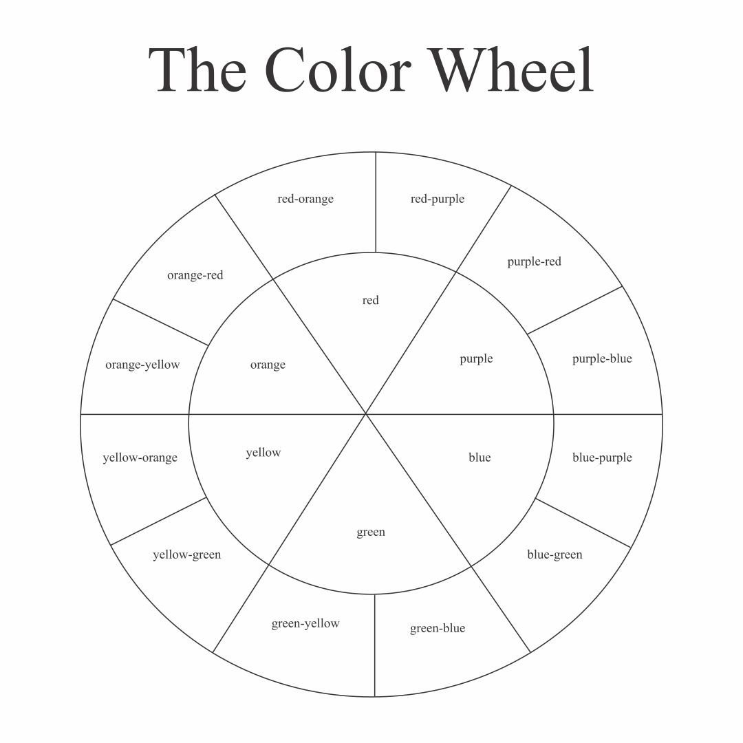 post color wheel printable for students