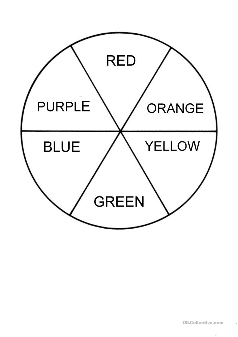 colour wheel worksheet templates layouts 1